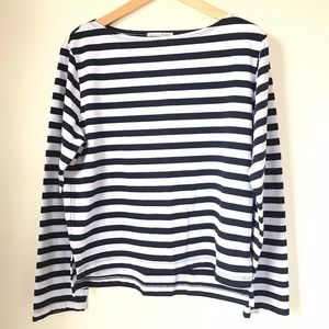 Reformation Jeans Striped Long Sleeve Tee sz M